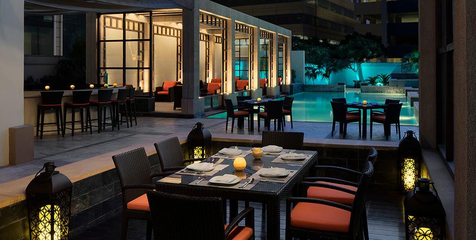 Glow Pool Bar Side View